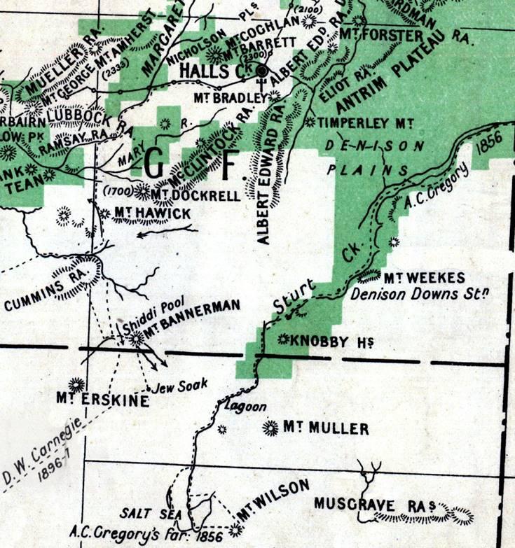 Map Of Australia 1700.Billiluna Station Wa