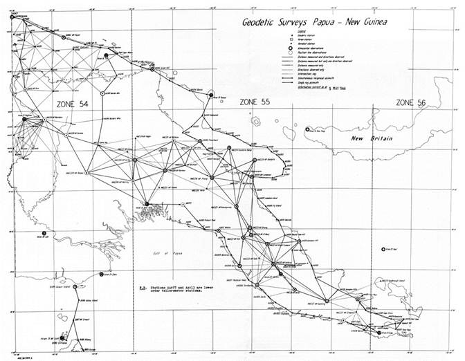 THE DIVISION OF NATIONAL MAPPIMG'S GEODETIC SURVEY OF PAPUA NEW