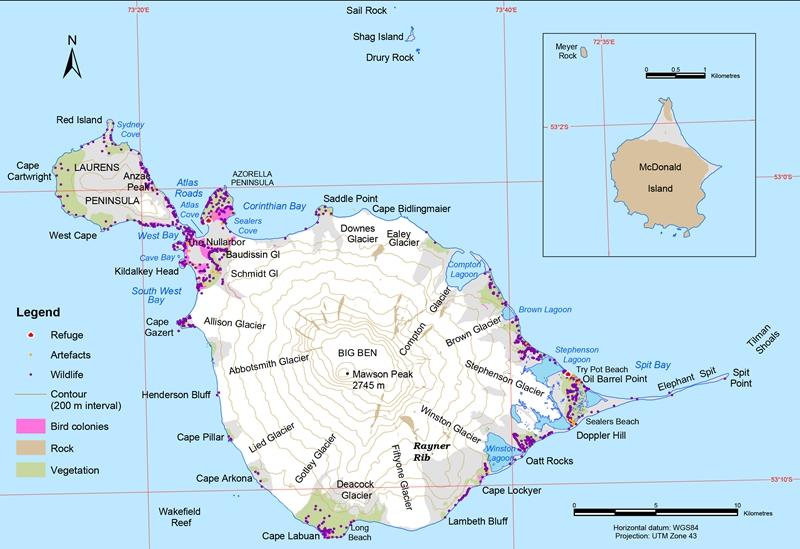 Heard Island Volcano Map